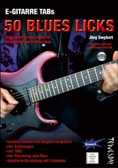 E-Gitarre TABs - 50 Blues Licks, m. DVD