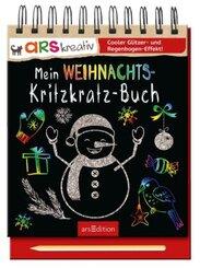 Mein Weihnachts- Kritzkratz-Buch, m. Holzstift