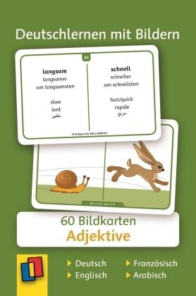 Deutschlernen mit Bildern: Adjektive, Bildkarten