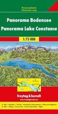 Freytag & Berndt Auto + Freizeitkarte Bodensee, Panoramakarte 1:75.000; Panorama Lake Constance