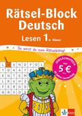 Rätsel-Block Deutsch - Lesen 1. Klasse