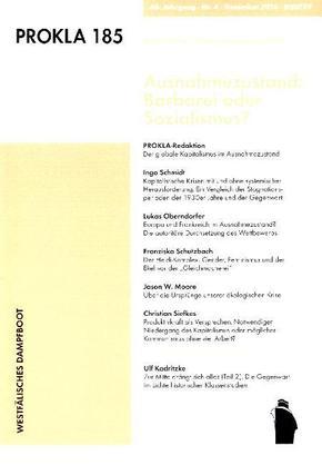 Prokla; Ausnahmezustand: Barbarei oder Sozialismus; Bd.185