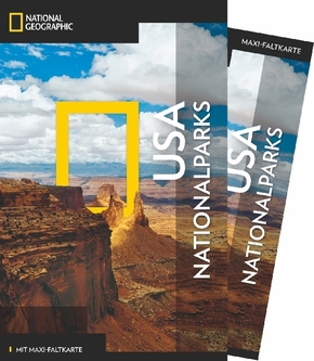 NATIONAL GEOGRAPHIC Traveler Reiseführer USA-Nationalparks mit Maxi-Faltkarte