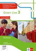 Green Line, Bundesausgabe ab 2014: 7. Klasse, Workbook, m. Audio-CDs u. CD-ROM; Bd.3
