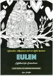 Eulen - Malbuch für Erwachsene