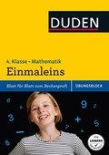 Duden Einfach klasse in Mathematik, Übungsblock: Einmaleins, 4. Klasse