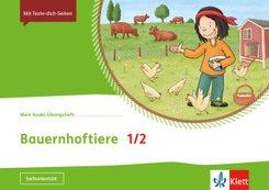 Mein Indianerheft: Mein Anoki-Übungsheft - Bauernhoftiere, 1./2. Klasse