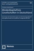 Mindestkapitalfreie Gesellschaften in Deutschland