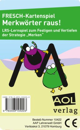FRESCH-Kartenspiel: Merkwörter raus! (Kartenspiel)