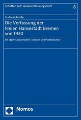 Die Verfassung der Freien Hansestadt Bremen von 1920