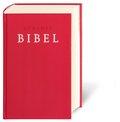 Bibelausgaben: Zürcher Bibel, mit Erklärungen, rot; Deutsche Bibelgesellschaft