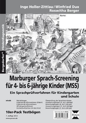 Marburger Sprach-Screening für 4- bis 6-jährige Kinder (MSS) - Testbögen