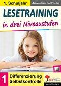Lesetraining in drei Niveaustufen / Klasse 1
