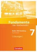 Fundamente der Mathematik, Gymnasium Baden-Württemberg: 7. Schuljahr, Lösungen zum Schülerbuch