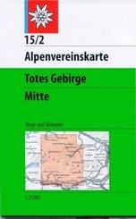 Alpenvereinskarte Totes Gebirge Mitte