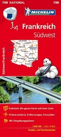 Michelin Karte Frankreich Südwest