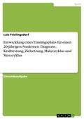 Entwicklung eines Trainingsplans für einen 20-jährigen Studenten. Diagnose, Krafttestung, Zielsetzung, Makrozyklus und M