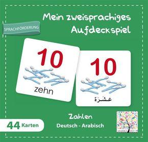 Mein zweisprachiges Aufdeckspiel, Zahlen Deutsch-Arabisch (Kinderspiel)
