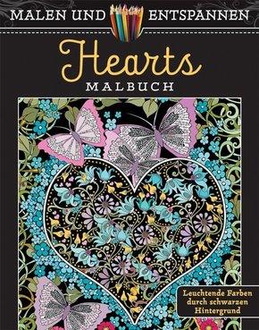 Malen und entspannen: Hearts