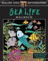Malen und entspannen: Sea Life Malbuch