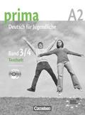 """Prima - Deutsch für Jugendliche/junge Erwachsene: Testheft mit Modelltest """"Fit in Deutsch 2"""", m. Audio-CDs; Bd.3/4"""