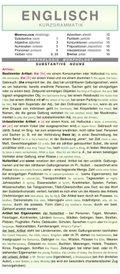 Leporello: Englisch Kurzgrammatik - Die komplette Grammatik im Überblick