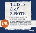 Lists of Note - live, 2 Audio-CDs