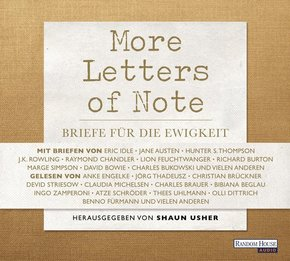 More Letters of Note, 3 Audio-CDs