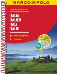 MARCO POLO Reiseatlas Italien 1:300 000; Band 1