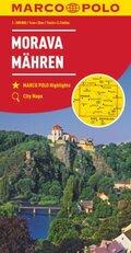 MARCO POLO Karte Mähren 1:200 000; Morava / Moravia / Moravie