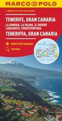 MARCO POLO Karte Teneriffa, Gran Canaria 1:150 000