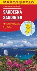MARCO POLO Karte Sardinien 1:200 000; Sardaigne / Sardegna / Sardinia