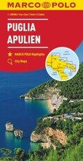 MARCO POLO Karte Apulien 1:200 000; Pouilles / Puglia / Apulia
