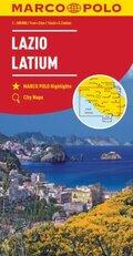 MARCO POLO Karte Latium 1:200 000; Lazio
