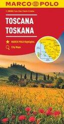 MARCO POLO Karte Toskana 1:200 000