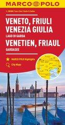 MARCO POLO Karte Venetien, Friaul, Gardasee 1:200 000; Vénétie, Frioul, Lac de Garde; Veneto, Friuli, Lago di Garda. Ven
