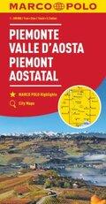 MARCO POLO Karte Piemont, Aostatal 1:200 000; Piémont, Vallée d' Aoste / Piemonte, Valle d' Aosta / Piedmont, Aosta Vall
