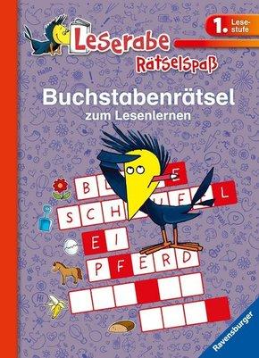 Leserabe, 1. Lesestufe - Buchstabenrätsel zum Lesenlernen