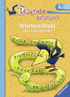 Leserabe, 2. Lesestufe - Wörterrätsel zum Lesenlernen