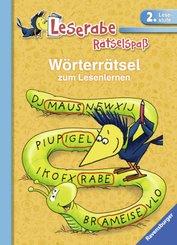 Wörterrätsel zum Lesenlernen