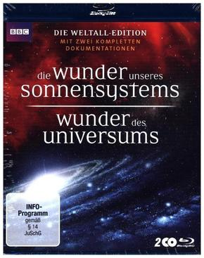 Wunder des Universums & Die Wunder unseres Sonnensystems, 2 Blu-ray