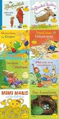 Pixi Bücher: Pixi-Buch 2003-2010 (Pixi mit Hasen Hühnern und Stickern), 8 Hefte; Serie.221