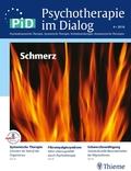 Psychotherapie im Dialog (PiD): Schmerz; Nr.4/2016