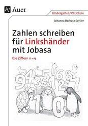 Zahlen schreiben für Linkshänder mit Jobasa