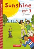 Sunshine - Early Start Edition (Nordrhein-Westfalen): 3. Schuljahr, Activity Book mit Audio-CD, Minibildkarten und Faltbox