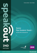 Speakout Starter 2nd edition: Flexi Students' Book 1, w. DVD-ROM and MyEnglishLab