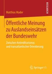 Öffentliche Meinung zu Auslandseinsätzen der Bundeswehr