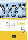 Mathe.Logo, Realschule Bayern (2017): 5. Jahrgangsstufe, Arbeitsheft Plus, m. CD-ROM