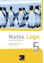Mathe.Logo, Realschule Bayern (2017): 5. Jahrgangsstufe, Arbeitsheft Plus, m. CD-ROM; Band 6