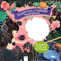 Krickel-Kratz-Malbilder. Meerjungfrauen